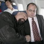 dormir num avião medo de avião